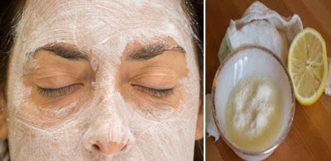 Mascarilla de bicarbonato para las manchas de la cara