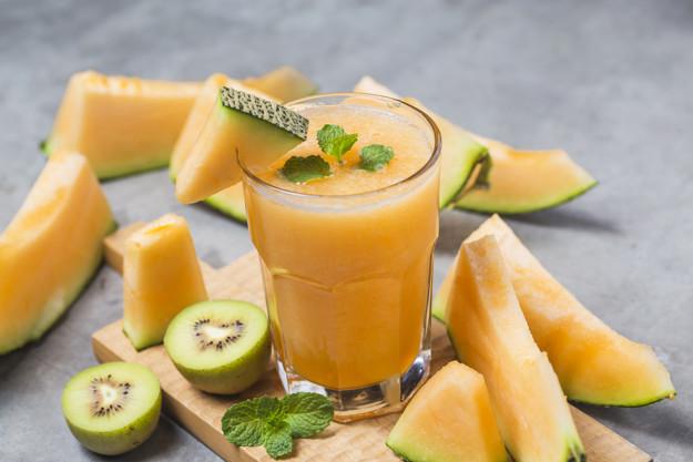 Jugo de melón y menta